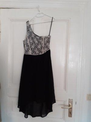 Vero Moda Robe bas asymétrique blanc-noir