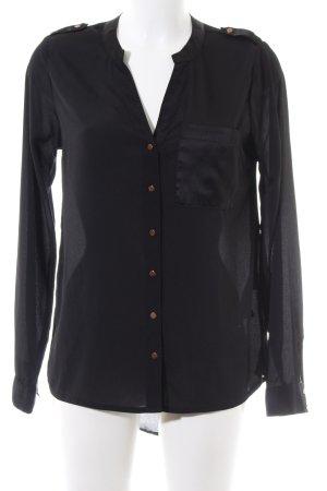 Vero Moda Oversized Bluse schwarz Casual-Look