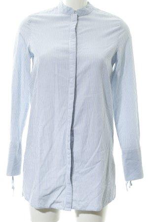 Vero Moda Oversized Bluse weiß-himmelblau Streifenmuster Business-Look
