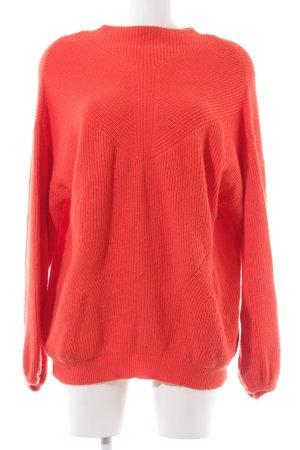Vero Moda Oversized Pullover rot Streifenmuster Casual-Look