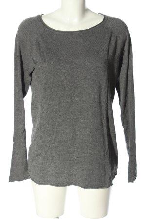 Vero Moda Oversized Pullover hellgrau meliert Casual-Look