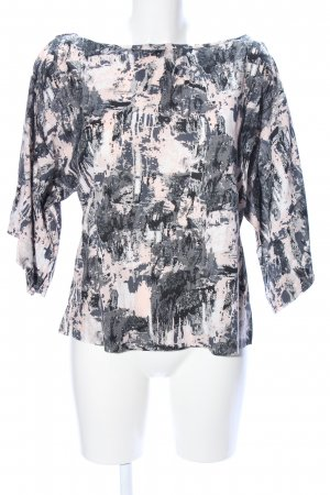 Vero Moda Oversized Shirt hellgrau-creme abstraktes Muster Casual-Look