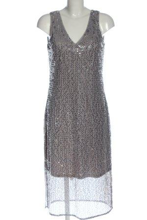 Vero Moda Vestido de lentejuelas gris claro-color oro elegante