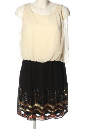 Vero Moda Cekinowa sukienka w kolorze białej wełny-czarny W stylu casual
