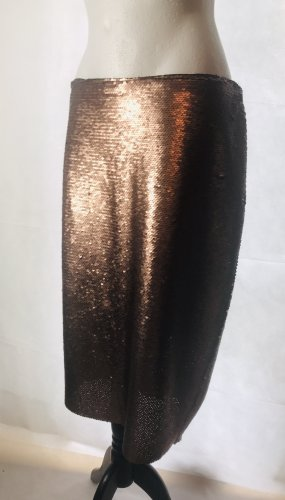 Pencil Skirt bronze-colored