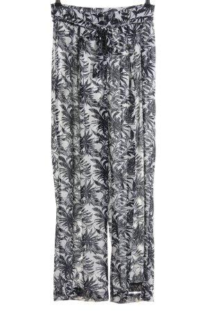 Vero Moda Pantalone palazzo bianco-nero stampa integrale stile casual