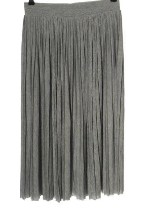 Vero Moda Falda plisada gris claro moteado look casual