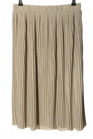 Vero Moda Pleated Skirt gold-colored-light grey striped pattern casual look