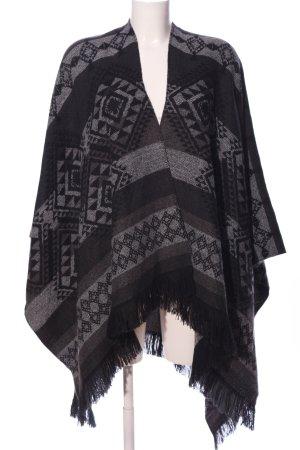 Vero Moda Poncho grigio chiaro-nero stampa integrale stile casual