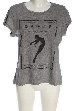 Vero Moda Print Shirt light grey-black themed print casual look