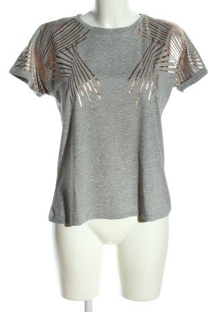 Vero Moda Shirt met print lichtgrijs grafisch patroon casual uitstraling