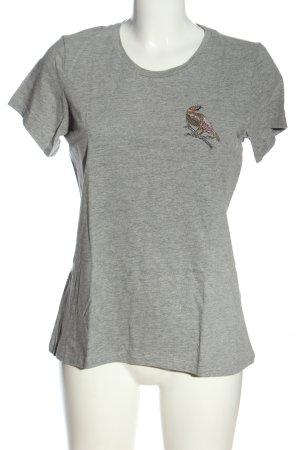 Vero Moda Print-Shirt hellgrau Casual-Look