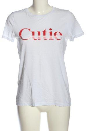 Vero Moda Shirt met print wit gedrukte letters casual uitstraling