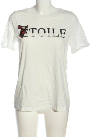 Vero Moda Shirt met print gedrukte letters casual uitstraling