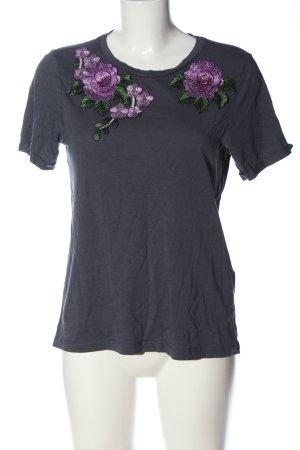 Vero Moda Shirt met print lichtgrijs-lila bloemenprint casual uitstraling