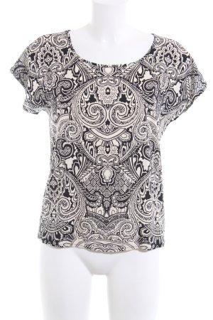 Vero Moda Shirt met print wolwit-zwart abstract patroon casual uitstraling