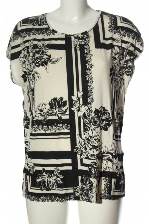 Vero Moda Print Shirt black-natural white abstract pattern elegant