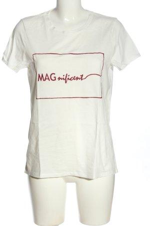 Vero Moda Print-Shirt weiß Schriftzug gedruckt Casual-Look