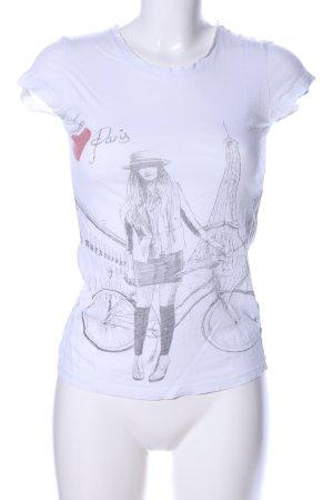 Vero Moda Print-Shirt weiß-schwarz Motivdruck Casual-Look