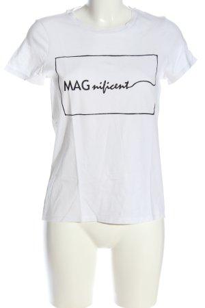 Vero Moda Shirt met print wit-zwart gedrukte letters casual uitstraling