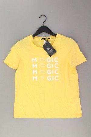 Vero Moda Shirt met print geel-neongeel-limoen geel-donkergeel Katoen
