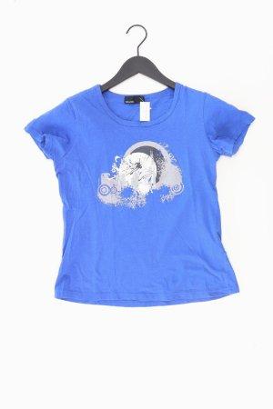 Vero Moda Shirt met print blauw-neon blauw-donkerblauw-azuur Katoen