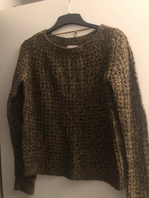Vero Moda Crochet Sweater gold-colored-light brown