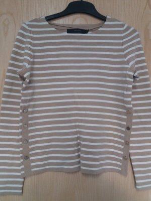 Vero Moda Cienki sweter z dzianiny piaskowy brąz-kremowy Bawełna