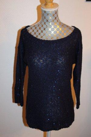 Vero Moda Pullover Gr. M Glitzerpailetten