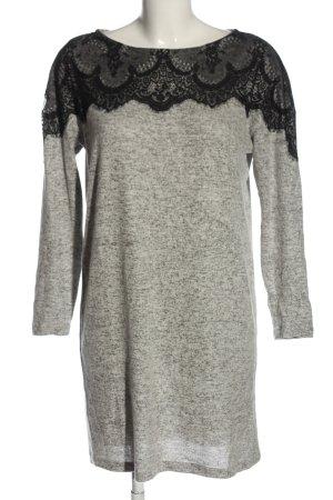 Vero Moda Sweater Dress light grey-black flecked casual look