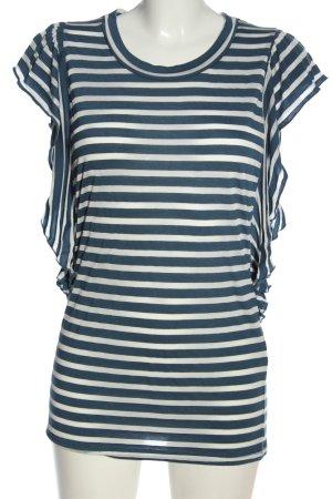 Vero Moda Ringelshirt blau-weiß Streifenmuster Casual-Look