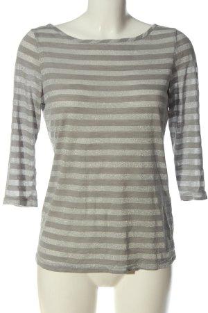 Vero Moda T-shirt rayé gris clair-argenté motif rayé style décontracté