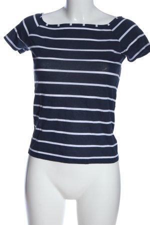 Vero Moda Ringelshirt blau-weiß Allover-Druck Casual-Look