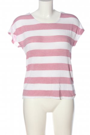 Vero Moda Ringelshirt pink-weiß Streifenmuster Casual-Look