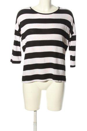 Vero Moda T-shirt rayé noir-blanc motif rayé style décontracté
