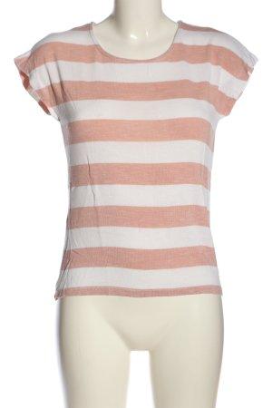 Vero Moda Ringelshirt weiß-pink Allover-Druck Casual-Look