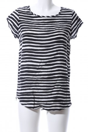 Vero Moda Ringelshirt schwarz-weiß Streifenmuster Casual-Look