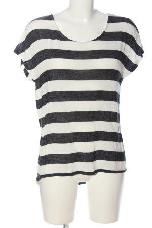 Vero Moda Ringelshirt schwarz-weiß meliert Casual-Look