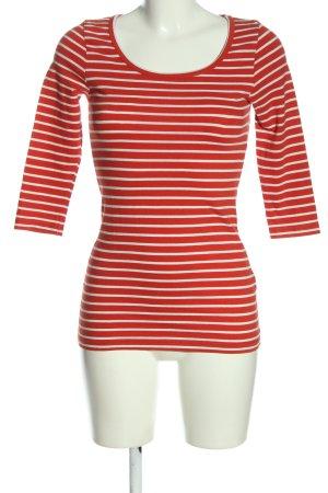 Vero Moda Ringelshirt rot-weiß Streifenmuster Casual-Look