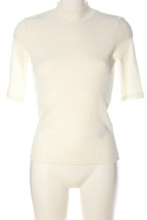 Vero Moda Ribbed Shirt cream cable stitch casual look