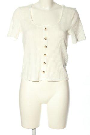Vero Moda Geribd shirt wit casual uitstraling