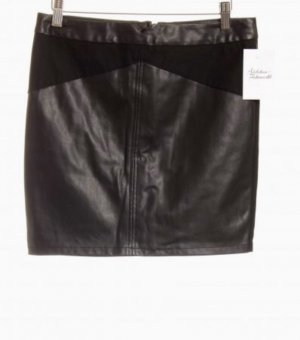 Vero Moda Rok van imitatieleder zwart