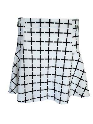 Vero Moda Skaterska spódnica biały-czarny Poliester
