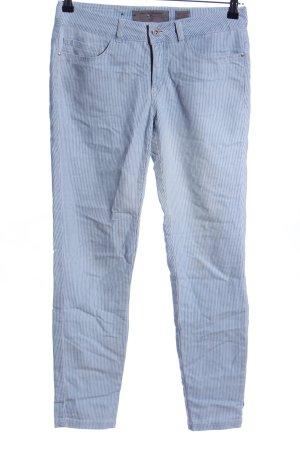 Vero Moda Röhrenhose blau Streifenmuster Casual-Look