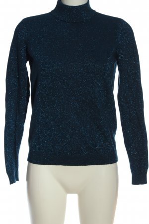 Vero Moda Rollkragenpullover blau meliert Casual-Look