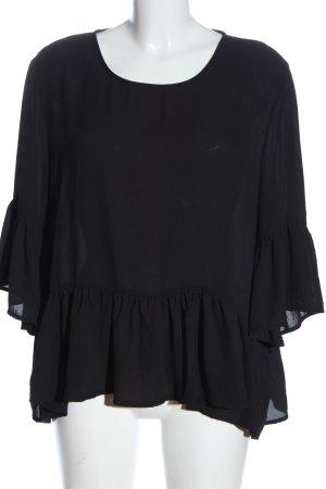 Vero Moda Rüschen-Bluse schwarz Elegant