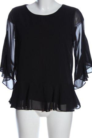 Vero Moda Rüschen-Bluse schwarz Casual-Look