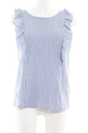 Vero Moda Rüschen-Bluse blau-weiß Streifenmuster Business-Look