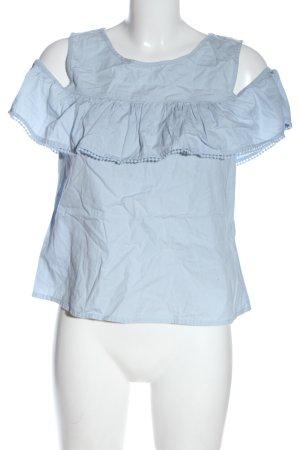 Vero Moda Rüschen-Bluse blau Casual-Look