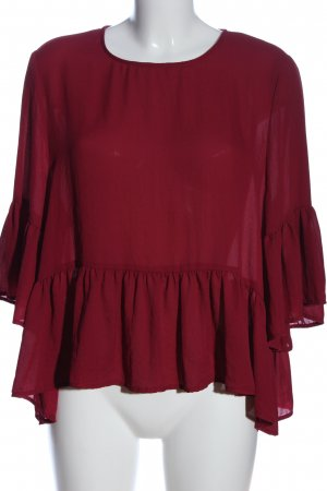 Vero Moda Rüschen-Bluse rot Casual-Look